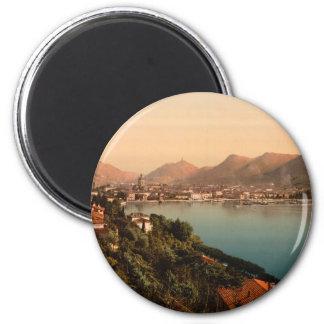 Como I, lago Como, Lombardía, Italia Imán Redondo 5 Cm
