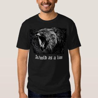 Como intrépido como camiseta del león