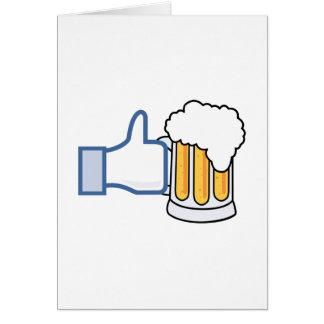 Como la cerveza - Color.png Tarjeta De Felicitación