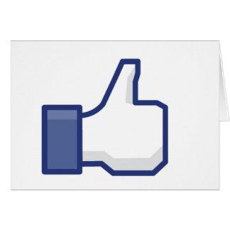 Como la mano - pulgares del FB para arriba Tarjeta De Felicitación