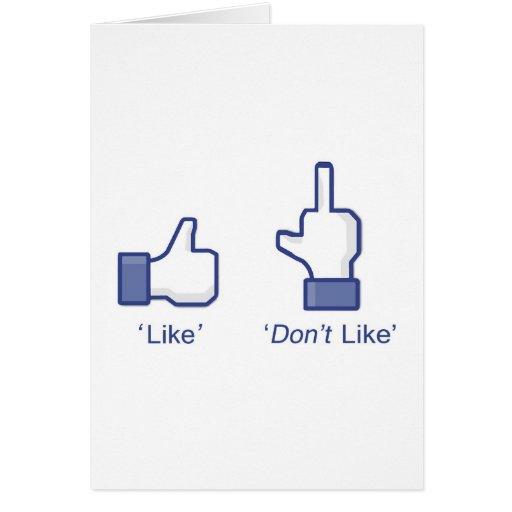 """Como o """"no tenga gusto"""" de Facebook Felicitaciones"""