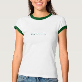 como para saber… camiseta