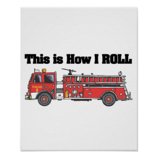 Cómo ruedo (el coche de bomberos/el camión) póster