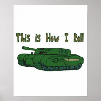 Cómo ruedo (el tanque militar) póster