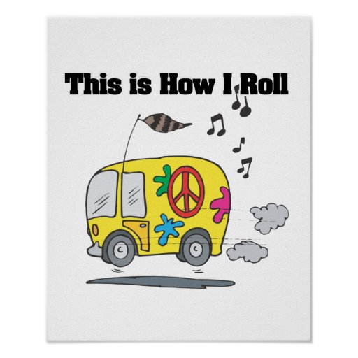 Cómo ruedo (Hippie Van) Posters