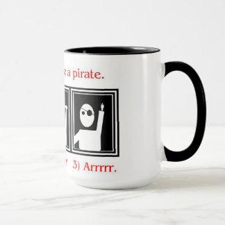 Cómo ser una taza del pirata