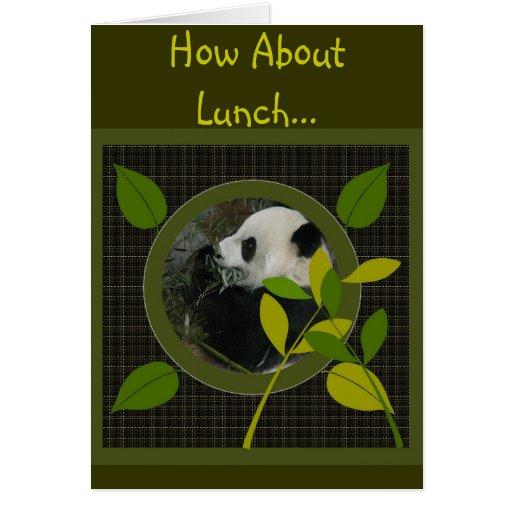 Cómo sobre almuerzo… Invitación Felicitacion