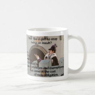 Como un chica taza de café