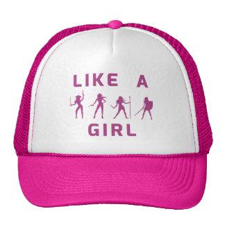 Como un gorra del camionero del chica