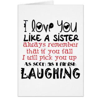 como una hermana tarjeton