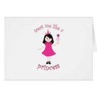 Como una princesa tarjeta