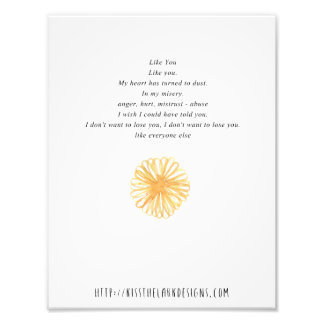Como usted - poesía 8,5 x 11 imprimible cojinete