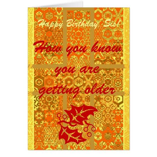 Cómo usted sabe usted está consiguiendo un más tarjeta de felicitación