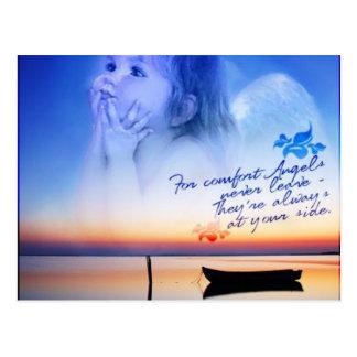 comodidad de ángeles tarjetas postales