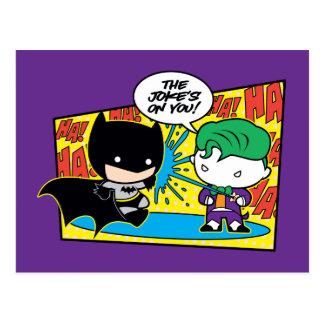 Comodín de Chibi Pranking Chibi Batman Postal