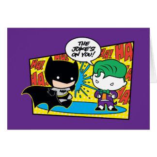 Comodín de Chibi Pranking Chibi Batman Tarjeta De Felicitación