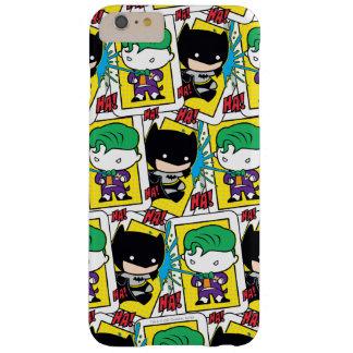 Comodín de Chibi y modelo del naipe de Batman Funda Barely There iPhone 6 Plus