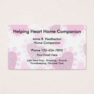 Compañero de los cuidados en casa tarjeta de visita