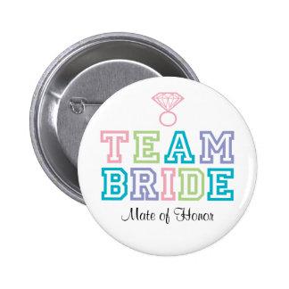 Compañero del botón de la novia del equipo del