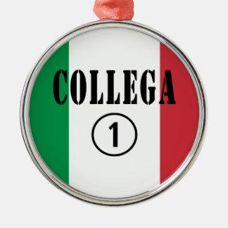 Compañeros de trabajo italianos: Uno de Collega Adorno Redondo Plateado