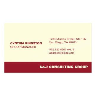 Compañía profesional del empleado del ecru de la tarjetas de visita