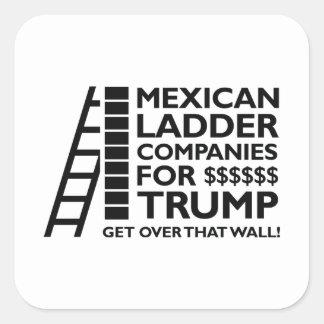 Compañías mexicanas de la escalera pegatina cuadrada