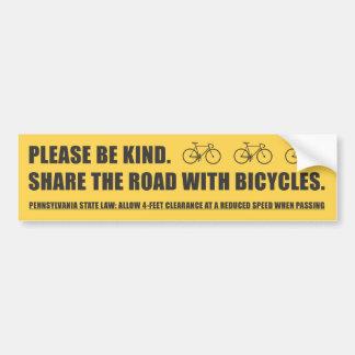 Comparta al pegatina de la seguridad de la bicicle etiqueta de parachoque