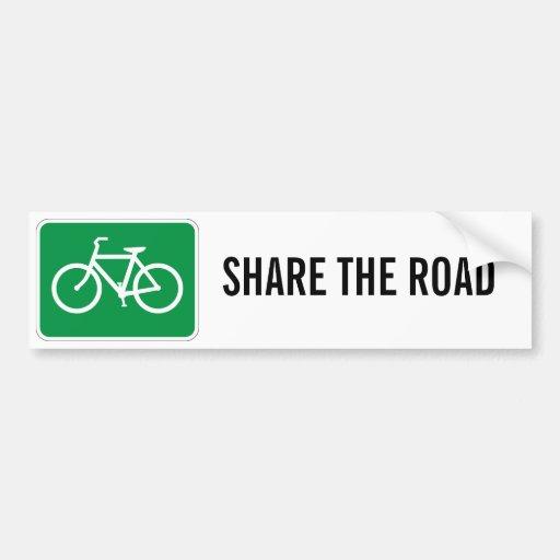 Comparta el camino con las bicicletas etiqueta de parachoque