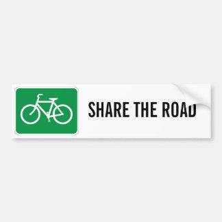 Comparta el camino con las bicicletas pegatina para coche
