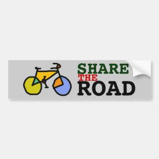 comparta la bici/la bicicleta del ~ del camino pegatina para coche