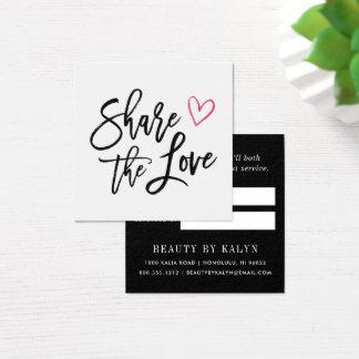 Comparta la remisión del amor el | tarjeta de visita cuadrada