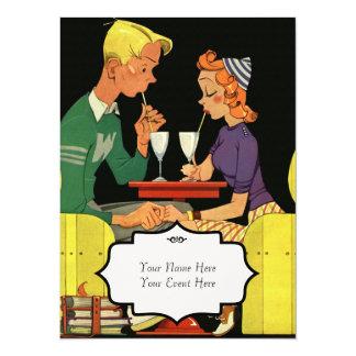 Comparta un batido de leche - invitación del boda invitación 13,9 x 19,0 cm