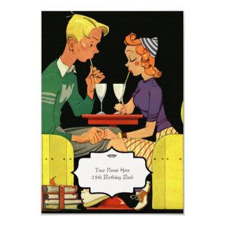 Comparta un batido de leche - invitación del boda invitación 8,9 x 12,7 cm