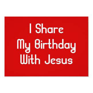 Comparto mi cumpleaños con Jesús Invitación 12,7 X 17,8 Cm