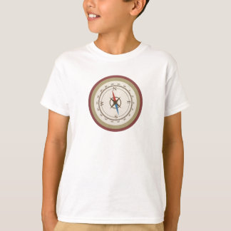 Compás náutico en el vintage Brown poner crema Camiseta