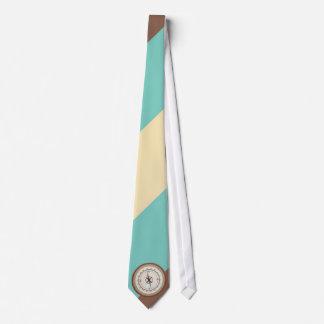 Compás náutico en el vintage Brown poner crema Corbata Personalizada