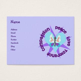 Compasión de la tolerancia del amor de la paz tarjeta de visita