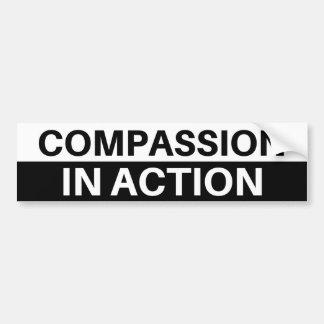 Compasión en la acción - pegatina para el