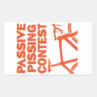 Competencia Pissing pasiva Pegatina Rectangular