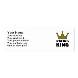 Competir con al rey tarjetas de visita mini