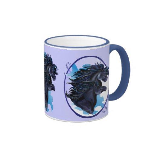 Competir con el viento para la alegría de ella taza de café