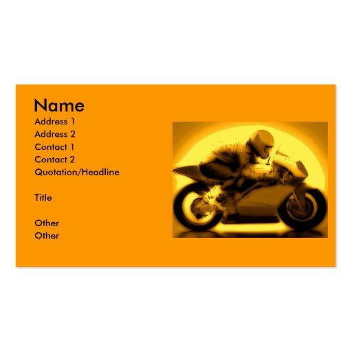 Competir con la motocicleta tarjeta de negocio