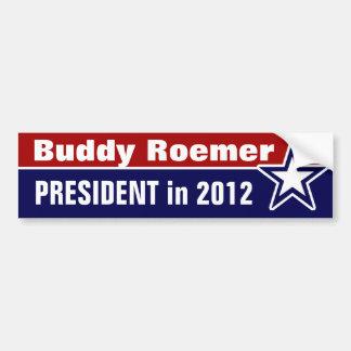 Compinche Roemer para el presidente en 2012 Pegatina De Parachoque