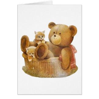 Compinches de la cesta tarjeta de felicitación