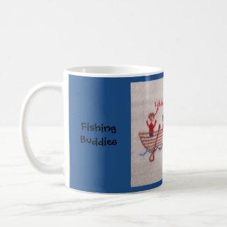 Compinches de la pesca taza de café