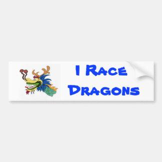 Compito con dragones pegatina para coche