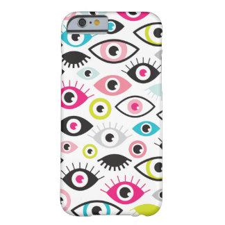 Complemento retro del amante del ojo del disco funda barely there iPhone 6