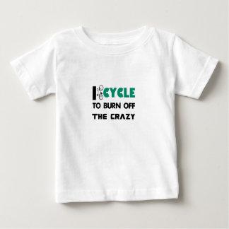 Completo un ciclo para consumir el loco, bicicleta camiseta de bebé