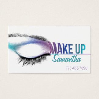Componga al artista de maquillaje de la tarjeta de