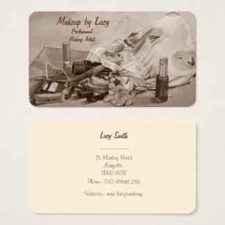 componga el diseño del artista retro para componer tarjeta de negocios